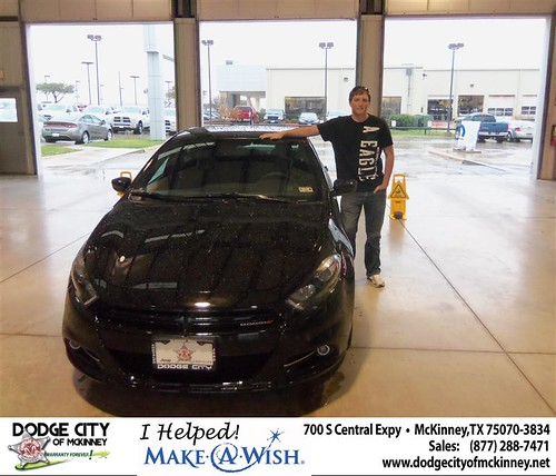 Congratulations to Karl Johnson on the 2013 Dodge Dart by Dodge City McKinney Texas