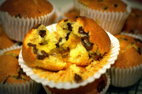 Choc & Marmalade muffin
