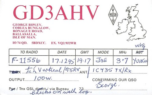 GD3AHV - F11556 - QSL - Ile de Man - Isle of Man by Yannick BARBIER