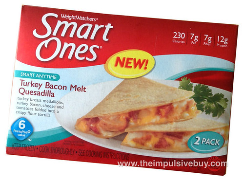 Weight Watchers Smart Ones Turkey Bacon Melt Quesadilla