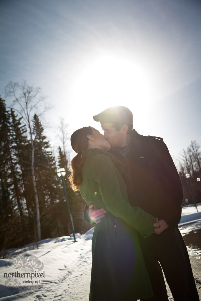 Engagement Sunflare Prince George British Columbia Canada