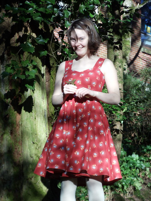 floral drop dress