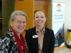 Gretchen Quarterman of LAKE and Susanne Fischer-Quinn of MAGE SOLAR