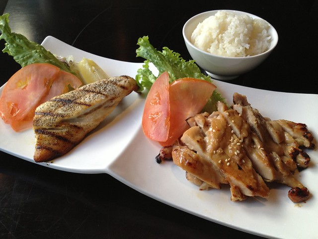 Miso chicken and saba shioyaki lunch combo - Wasabi Bistro