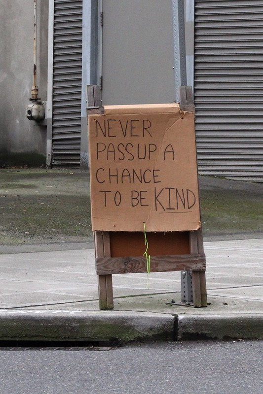 Chance to be kind