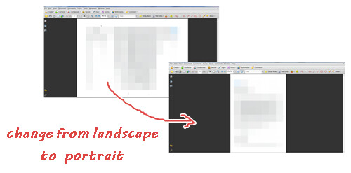 Edit pdf page orientation meaning