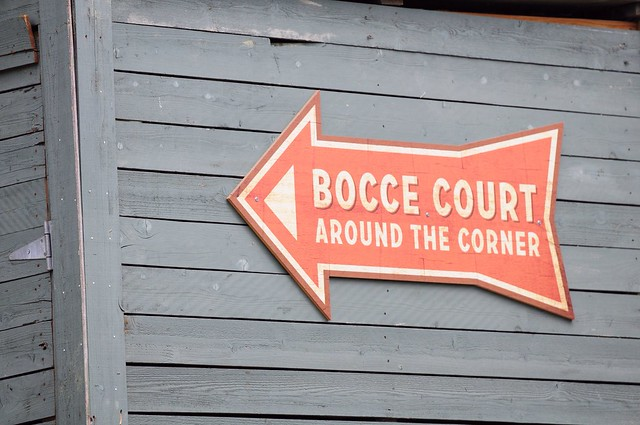 Bocce Ball Court Behind