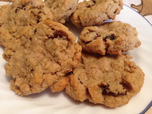 Oatmeal Raisin Cookies with Bittersweet Chocolate