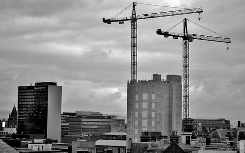 Manchester cranes by Angela Seager