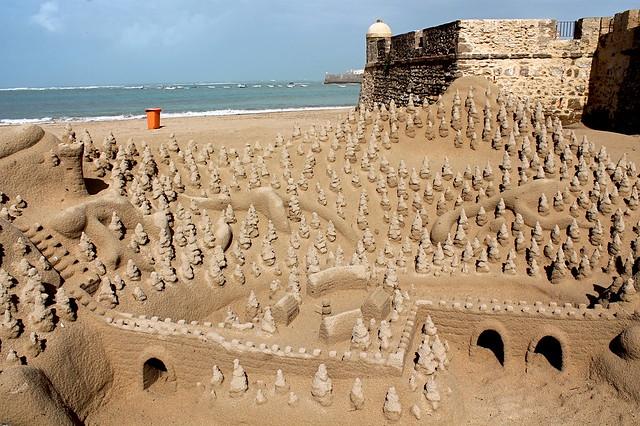 Sandcastles in Cadiz
