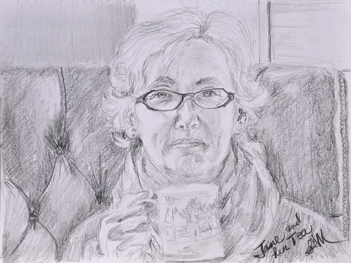 Jane and her Tea by photographerpainterprintmaker
