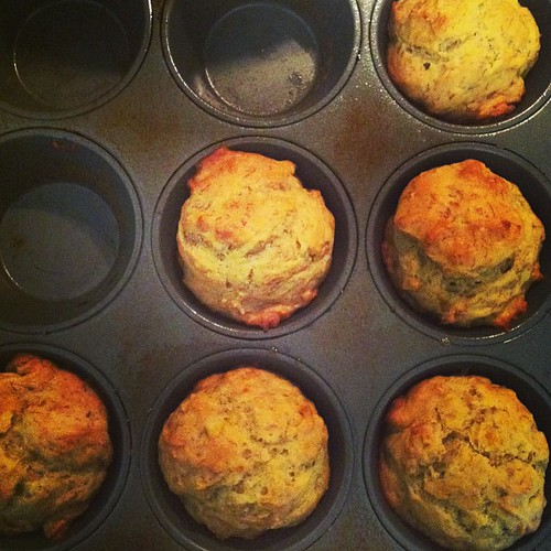 Today in Julie's kitchen: sugar free (honey sweetened) banana muffins. #100daysofrealfood