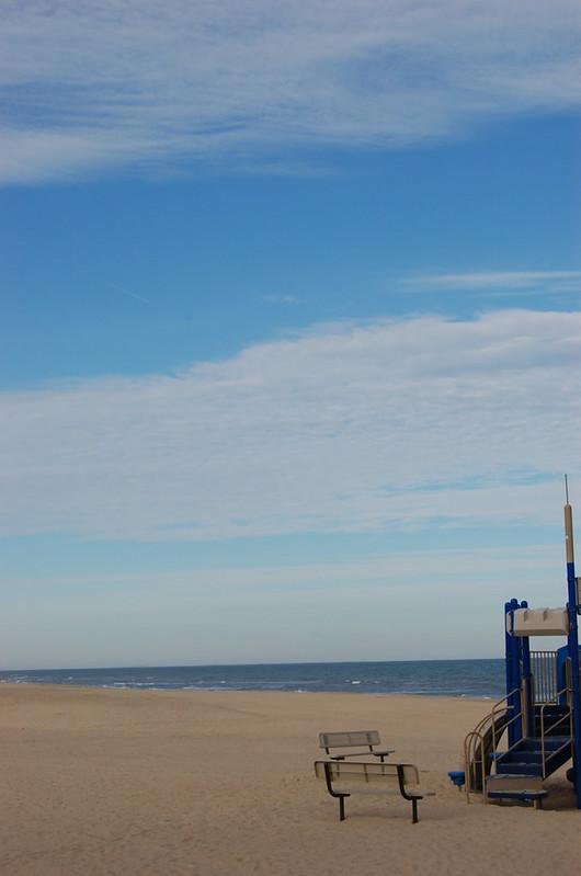 Deserted beach play area