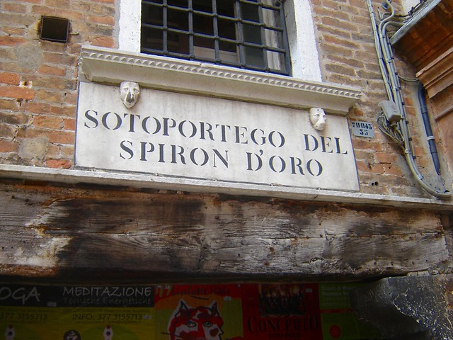 sign, Venice, street sign