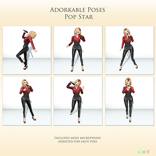 Adorkable Poses - Pop Star pack -  My Attic @ The Deck