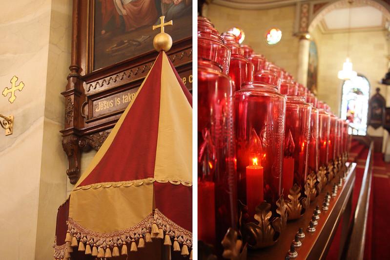 Umbraculum and Altar Candles
