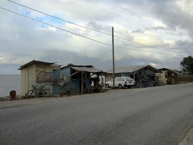 Shops near town