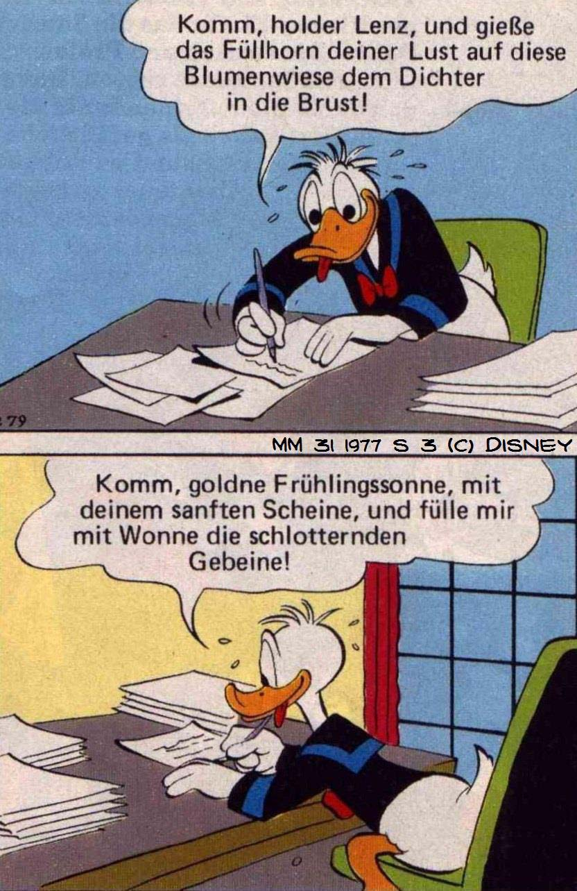 Carl Barks, Erika Fuchs  Unvergessliches Picknick, Micky Maus 31, 1977