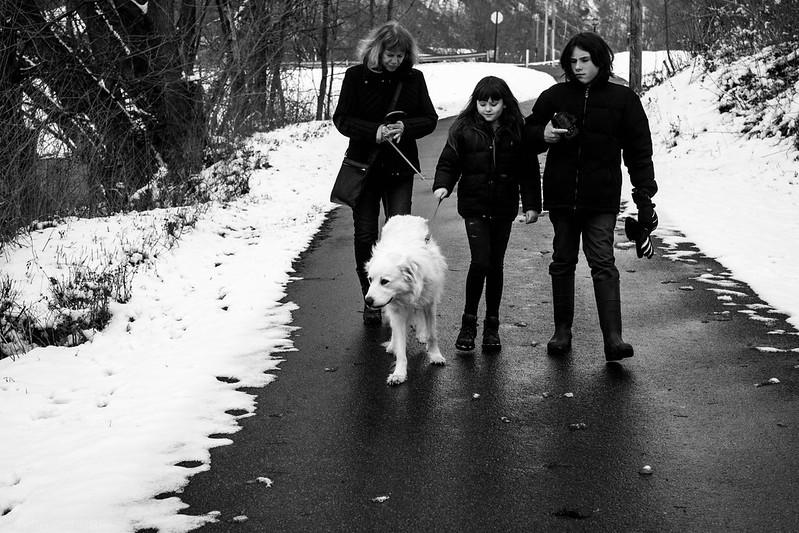 Taking Fionnoula for a walk