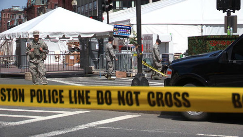 Aftermath of the Boston Marathon bombing which killed three people on April 15, 2013. Thousands were in and around the area of the two explosions. by Pan-African News Wire File Photos
