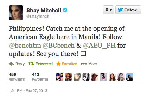 Shay Mitchell tweet