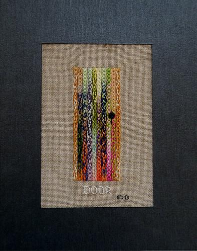 DOOR  - embroidered picture