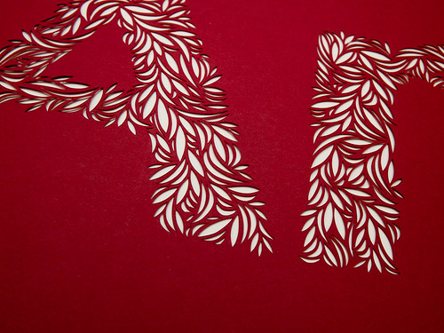 Paper cut typography-2