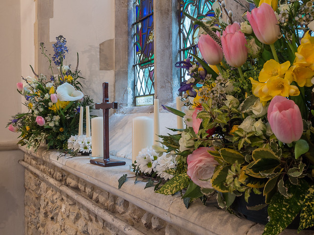Fishbourne Church at Easter