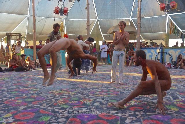 naturist capoeira 0050 Burning Man 2012, Black Rock City, NV, USA