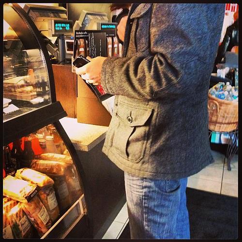 Feb 20 - where I stood {lined up @ Starbucks} #fmsphotoaday #starbucks #coffee