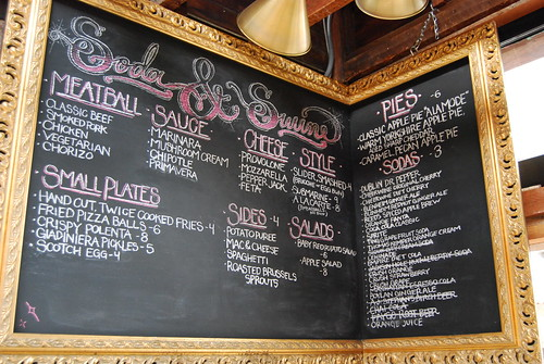 Soda & Swine menu