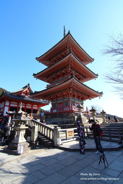 日本京阪神奈 京都。穿梭時空在清水寺。岡本和服初體驗。 | Doris旅行日記