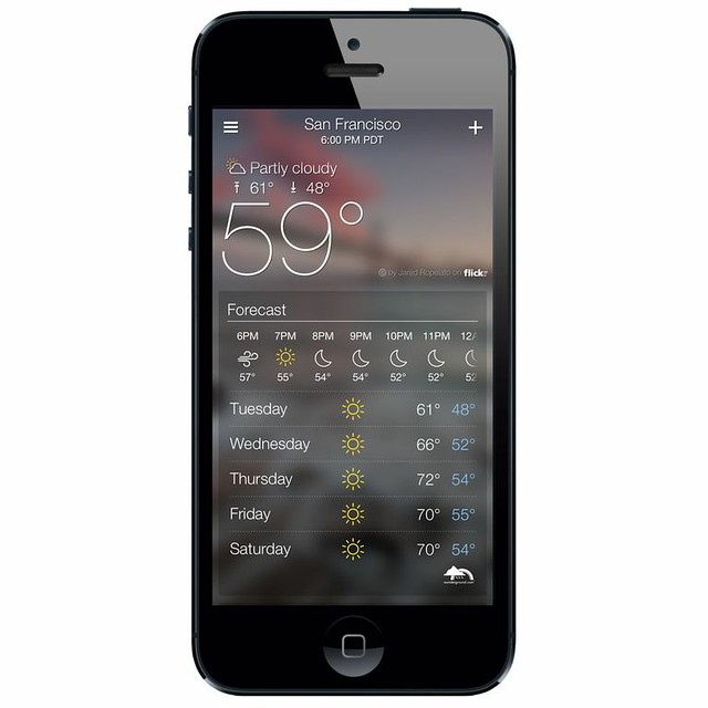 The Forecast is Beautiful: Introducing The Yahoo! Weather App for