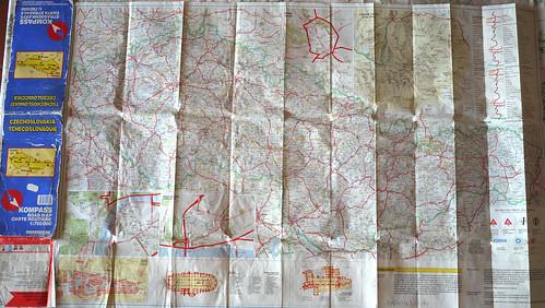 czechoslovakia old maps