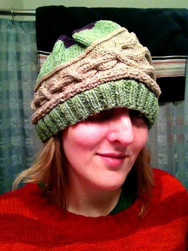 Giant hats happen with the wrong yarn and the wrong needles for a specific pattern. #project365
