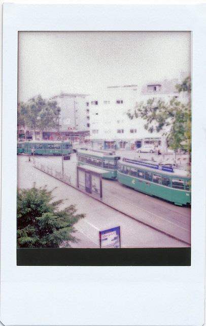 """Out the window""; Film: Fujifilm instax mini; Camera: Original Rolleiflex (1929)"
