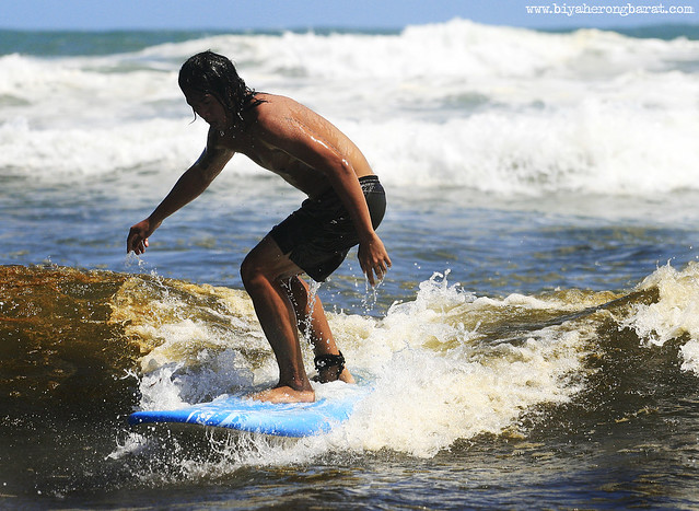 Surfing in Bagasbas Beach Camarines Norte