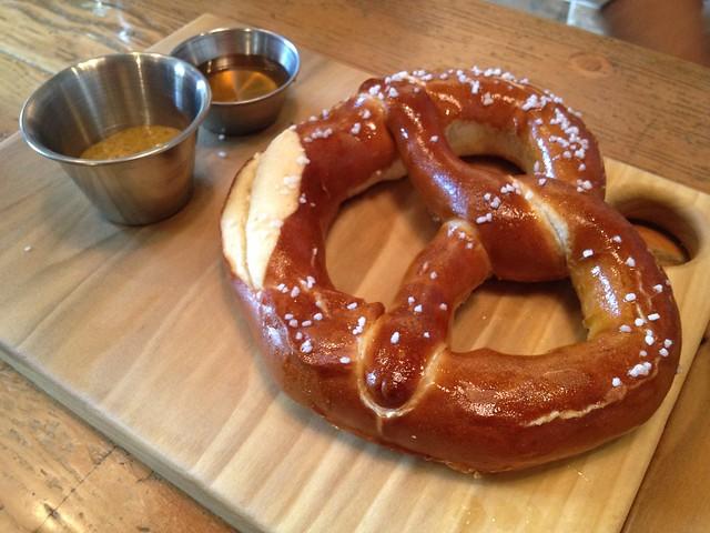 Warm soft pretzel - Hi Tops