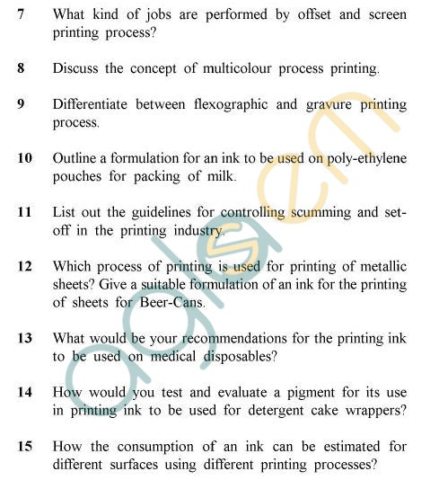UPTU B.Tech Question Papers -PT-803 - Printing In Technology