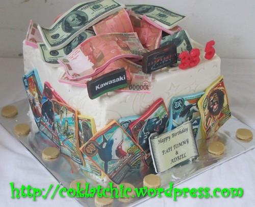 Cake Uang Dollar dan animal kaiser