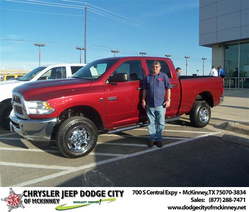 Dodge City of McKinney would like to say Congratulations to Lonnie Sullivan on the 2012 Dodge Ram by Dodge City McKinney Texas