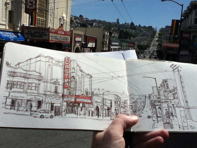 sketching castro street