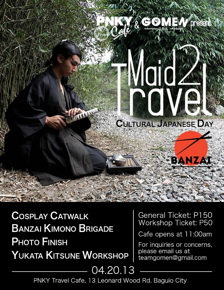 PNKY Travel Cafe and Gomen's Maid 2 Travel