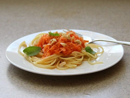 pickled carrot noodle salad