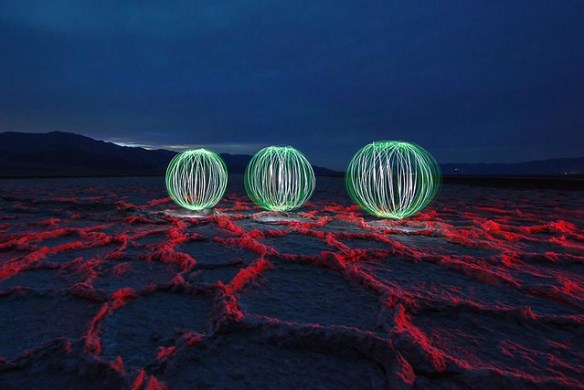 Light Painting in Badwater Basin