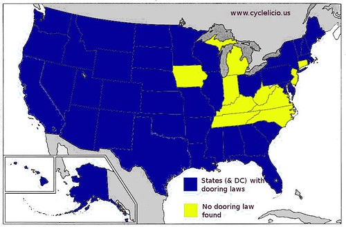 Dooring laws map