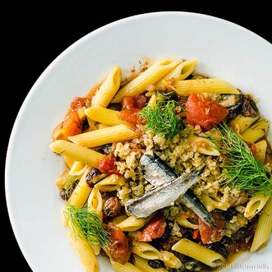 Image result for Macaroni with Sardines sicily