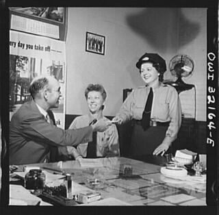Women Operators in Superintendent's Office: 1943