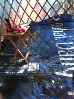 Flooded yurt!