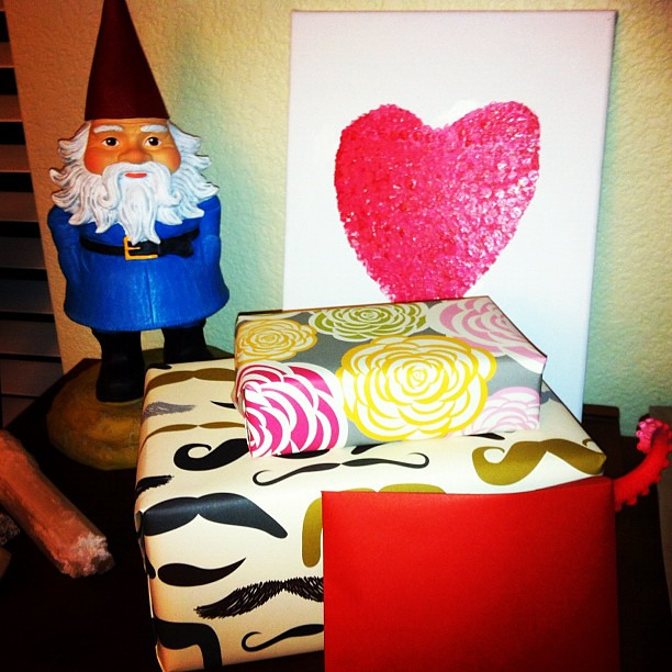 Valentine's Day decorations. #diy #travelinggnome